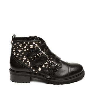 Sparkie Biker boots black leather dames