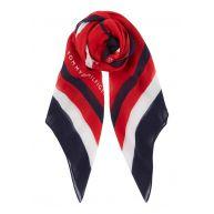 Tommy Hilfiger Hearts sjaal met dessin 110 x 110 cm