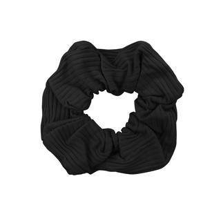 Zwarte scrunchie ribstof