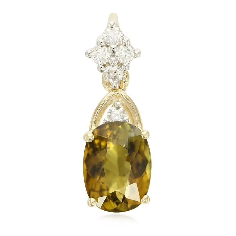 Gratis Verzending Van Hoge Kwaliteit Korting View Juwelo Gouden hanger met een koper toermalijn Echte Online Te Koop Yoy9VL