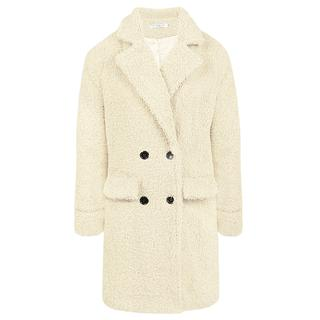 Long Teddy Coat Creme