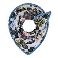 POM Amsterdam Sjaals African Summer Blauw