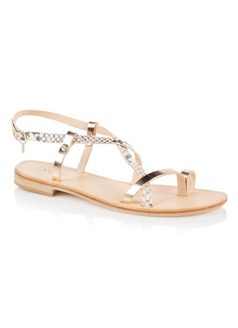Discount Beste Prijzen Thalia sandaal van leer met slangenstructuur Geen Verzendkosten Natuurlijk En Vrij 9dks8dC8a