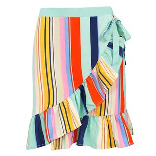 Striped Wrap Skirt - Multicolor