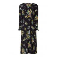 Warehouse Midi-dress met bloemendessin en trompetmouw