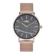 IKKI Amelle Roségoud/Zwart horloge AM-02