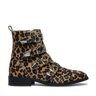 Buckle boots panterprint