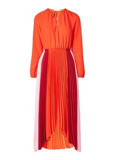 Reona maxi-jurk met plissé en colour blocking