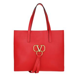 Tasche - V Ring Bag Leather Rouge/Rouge in rood voor dames