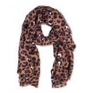Dames leopard print sjaal