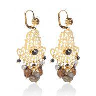 Gas Bijoux Charlie oorhangers met 24k gouden plating en Swarovski kristal