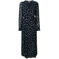 Ganni polka dot tie dress - Blue