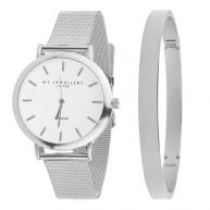 My Jewellery Limited Watch & Bangle big - Silver