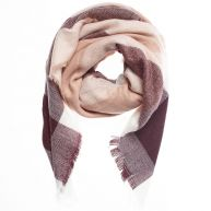 Lovely Pink Plaid Scarf