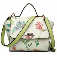 MISS LULU FLORAL PRINT WINGED SATCHEL SHOULDER BAG (LG1637)