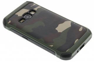 Army Defender Backcover voor Samsung Galaxy J1 (2016) - Groen