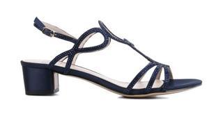Dames Sandalen in Stof (Blauw)