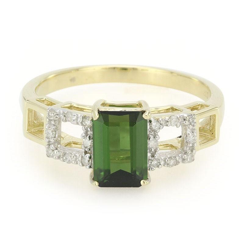 Juwelo Gouden ring met een Santo Rosa toermalijn Goedkope Koop Keuze RpB3a