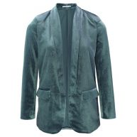 Velvet Blazer - Light Blue