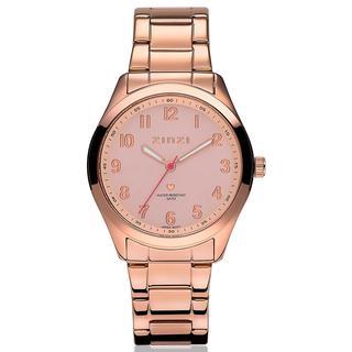horloge roségoudkleurige wijzerplaat stalen band roségoudkleurig ZIW202