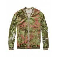 Vest - Tropical Bomber Look Green