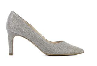Dames Pumps in Stof (Zilver)