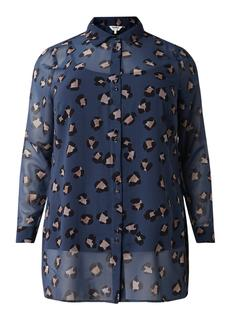 Isadora semi-transparante blouse met aangehecht singlet