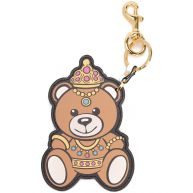 Moschino crowned teddy bear keyring - Brown
