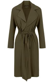 Trenchcoat Dames Legergroen