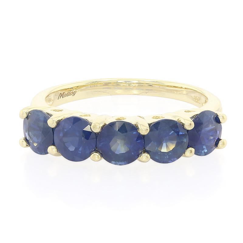 Juwelo Gouden ring met Ethiopische Saffieren (Molloy) Verkoop Korting oYi6gGy