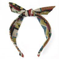 Sacha Haarband met strik - aztec multicolour