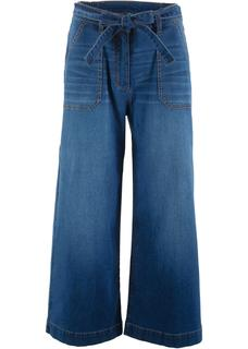 Dames 7/8 high waist jeans loose fit in blauw