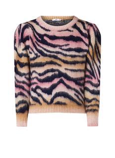 Zoeh sweater met zebradessin