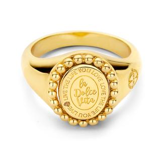 Soho Ring 925 Silver Gold Plated