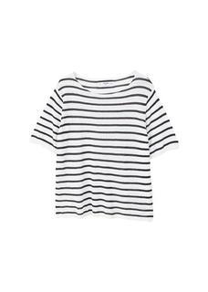 Gestreept tricot T-shirt