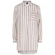 Y.A.S Gestreept Overhemd Met Lange Mouwen Dames Rood