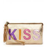 Fab Handtassen Disco Purse Kiss Goud