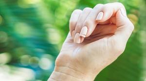 Herôme Natural Nails Set pakket met make-uptasje