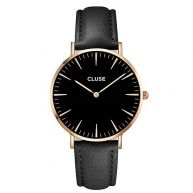 Cluse La Bohème Rose Gold Horloge CL18001 - Zwart/Zwart