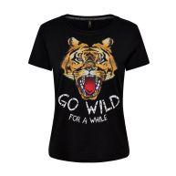 Only T-shirt Zwart 15147394