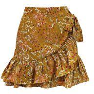 Flower Ruffle Skirt - Ocher