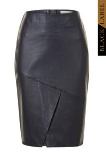 Black Label | Rok Leer Donkerblauw