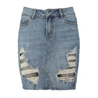 CoolCat Dames Rok Omaggy Denim