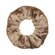 Velvet Scrunchie - Beige