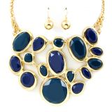 Statement Gem Necklace, Jeansblue! My Jewellery