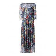 L.K.Bennett Phia maxi-jurk van zijde met bloemendessin