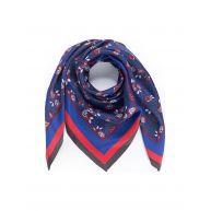 Sjaal van 100% zijde Van Peter Hahn blauw