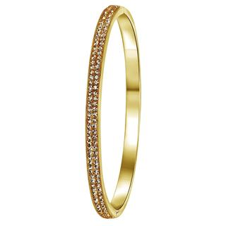 Stalen armband goldplated light colorado kristal