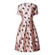 Phase Eight Carlett A-lijn jurk van satijn met bloemendessin