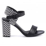 Sacha Hoge sandalen - zwart wit